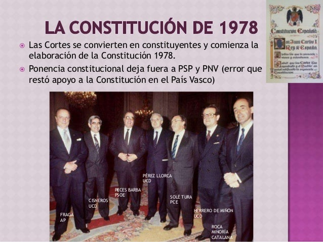 En nuestra historia • Pertenece a la serie de constituciones: • Democráticas • Largas • Rígidas • NOVEDAD: • Consenso entr...