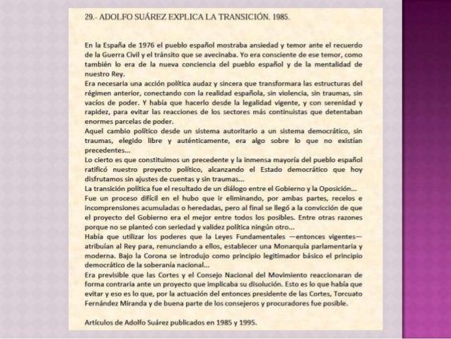  Política interior  Economía: modernización  Reconversión industrial y flexibilización mercado laboral.  Liberalizació...