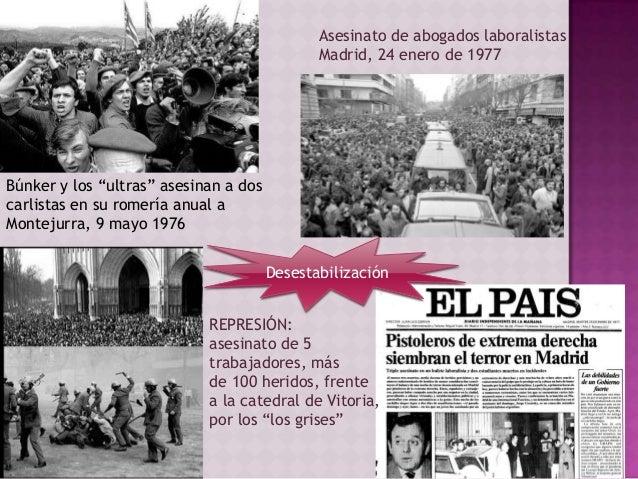 """Asesinato de abogados laboralistas Madrid, 24 enero de 1977 Búnker y los """"ultras"""" asesinan a dos carlistas en su romería a..."""