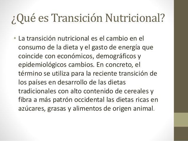 Transici n nutricional - Contenido nutricional de los alimentos ...