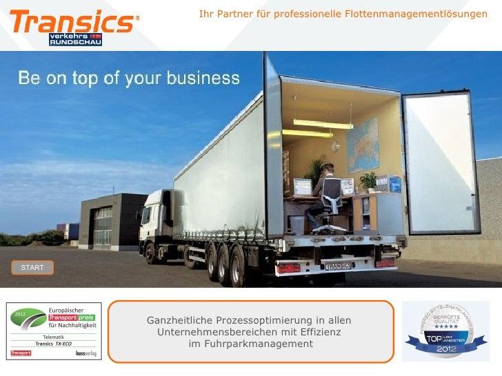 Ihr Partner für professionelle Flottenmanagementlösungen    START                                          Ganzheitliche P...