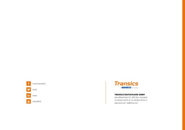 Transics | Unternehmensbroschüre | Corporate Brochure