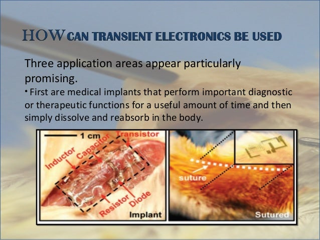 Transient electronics 1