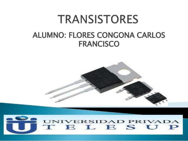 ALUMNO: FLORES CONGONA CARLOS FRANCISCO