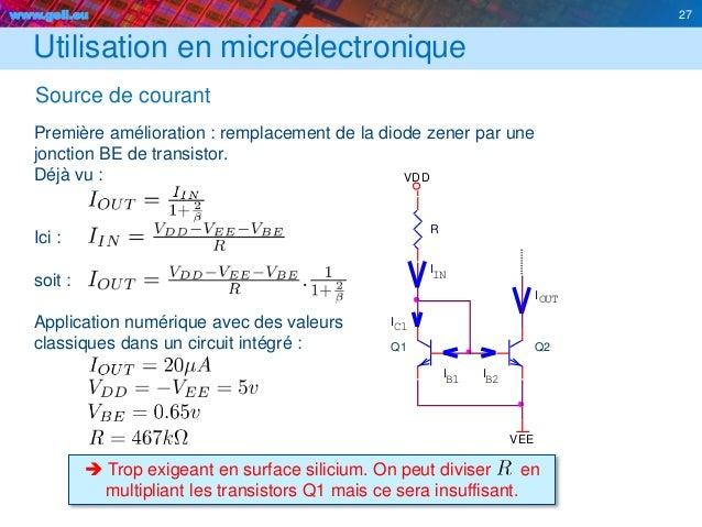 Transistors for Miroir de courant mos