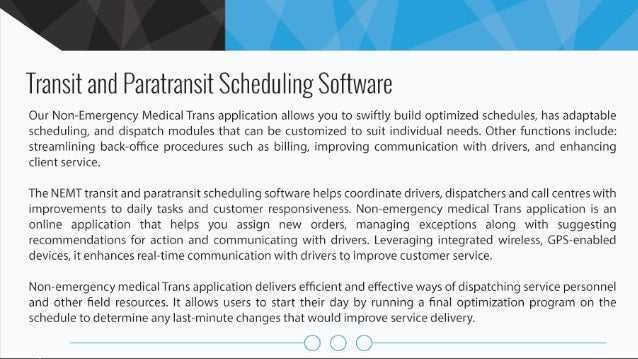 Transit and Paratransit Scheduling Software