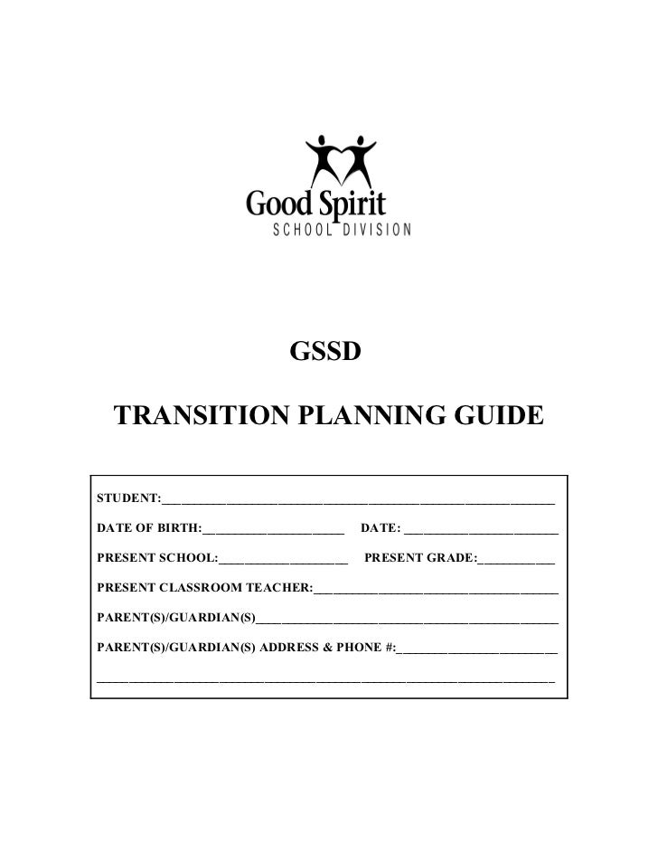 GSSD  TRANSITION PLANNING GUIDESTUDENT:_____________________________________________________________DATE OF BIRTH:________...