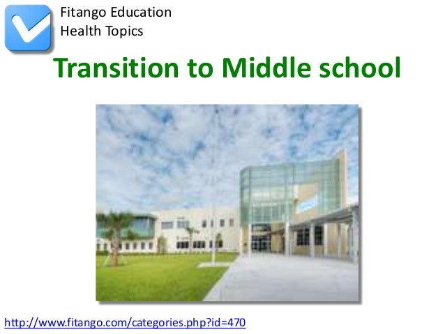 http://www.fitango.com/categories.php?id=470Fitango EducationHealth TopicsTransition to Middle school