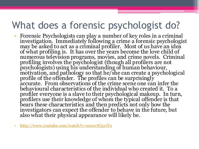the growth and role of forensic psychology The us bureau of labor statistics notes that psychology-related careers are expected to grow 19 percent between 2014 and 2024—much faster than.