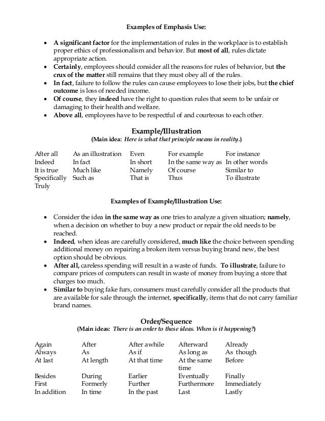 transitional device essay Transition words and phrases y in the first place again moreover not only but also to as well as as a matter of fact and together with in.