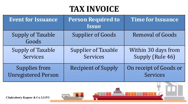 gst who can issue tax invoice credit note debit note payment voucher delivery challan