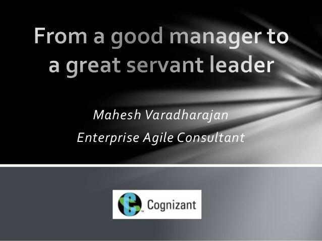 Mahesh Varadharajan  Enterprise Agile Consultant