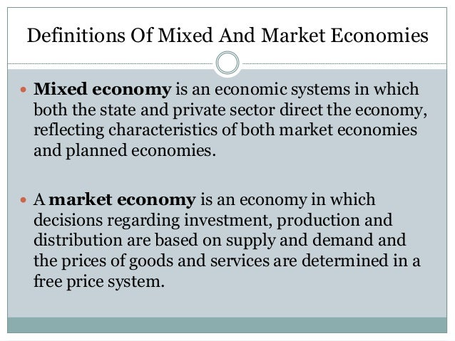 changes of transition to mixed economy