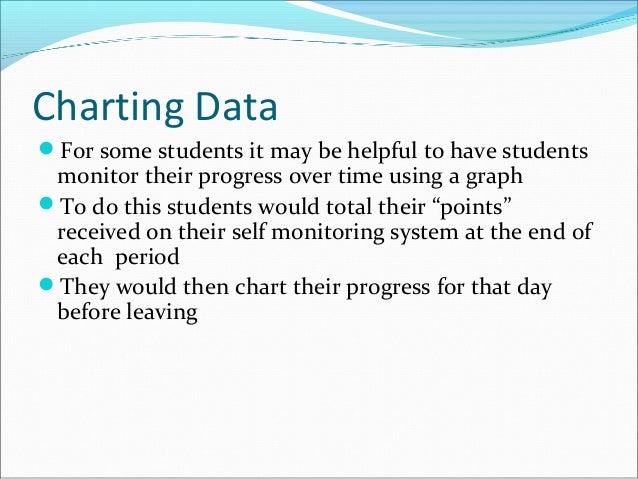 Charting Data For some students it may be helpful to have students monitor their progress over time using a graph To do ...