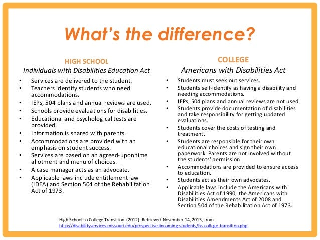 Transition Guide For Students Who Experience Disability