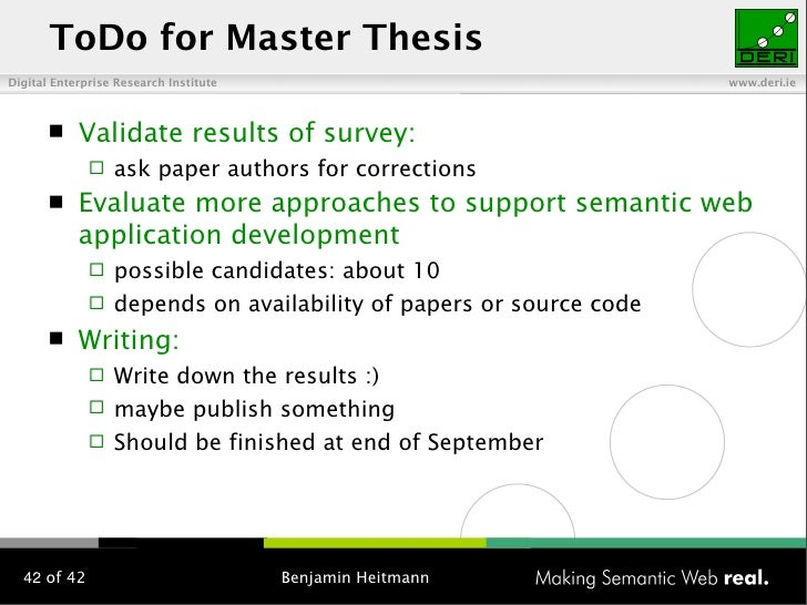 Master thesis application development