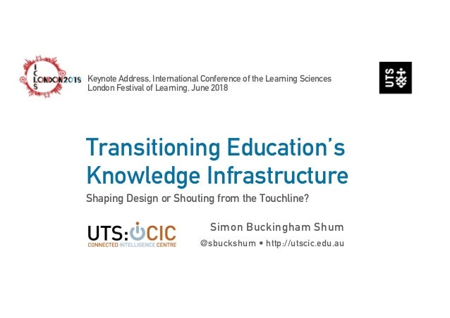 Transitioning Education's Knowledge Infrastructure Shaping Design or Shouting from the Touchline? Simon Buckingham Shum @s...