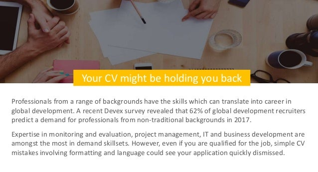 Transitioning to a global development job? Here's how to ...
