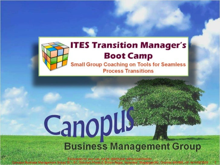 Exclusively for your use, not for distribution without permission.<br />Canopus Business Management Group| 35 – B1, Gokula...
