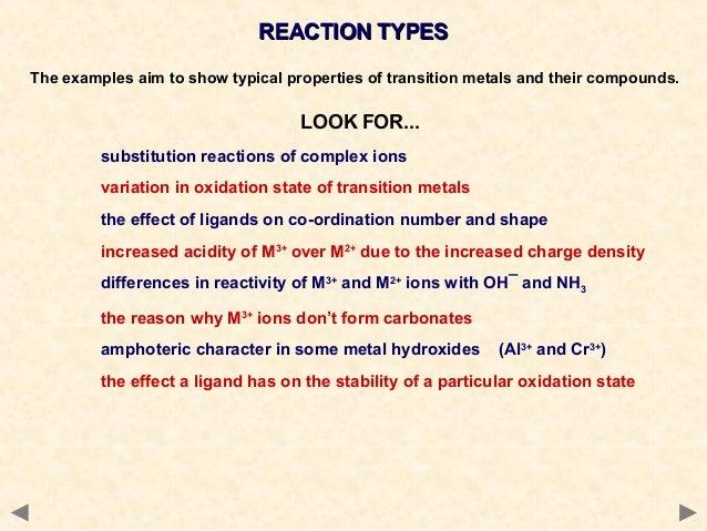 Transition metal complexes unit 1
