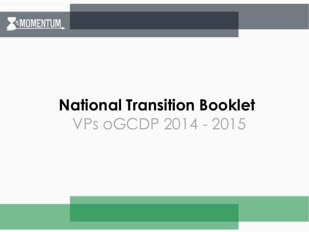 National Transition Booklet  VPs oGCDP 2014 - 2015