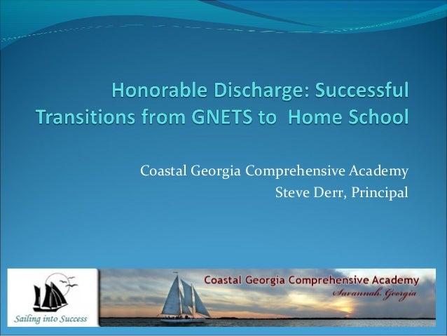 Coastal Georgia Comprehensive Academy Steve Derr, Principal
