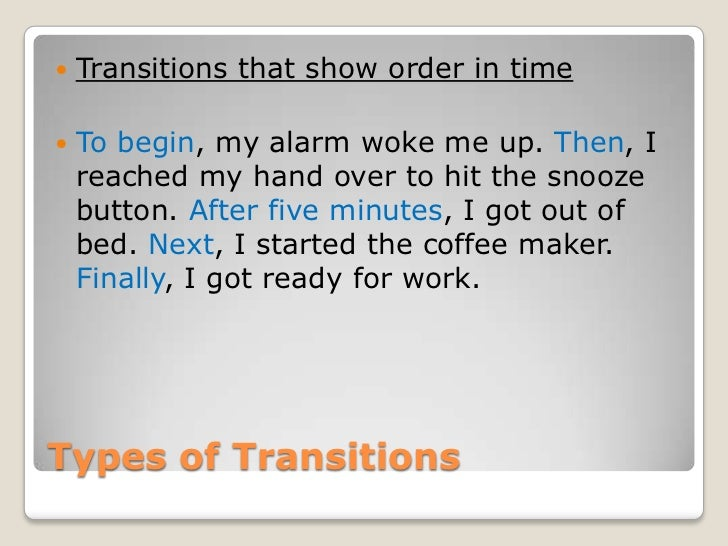 Transition phrases