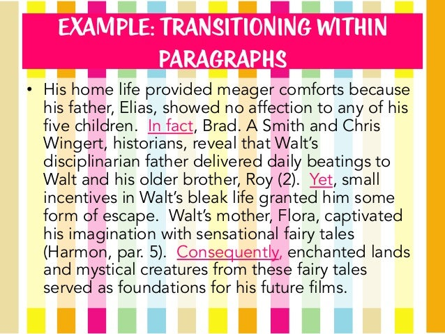 examples of transitions in a paragraph لم يسبق له مثيل الصور + ...