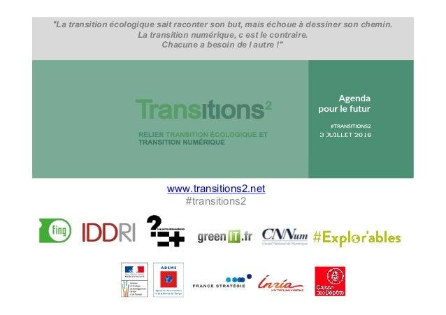 """""""La transition écologique sait raconter son but, mais échoue à dessiner son chemin. La transition numérique, c est le cont..."""