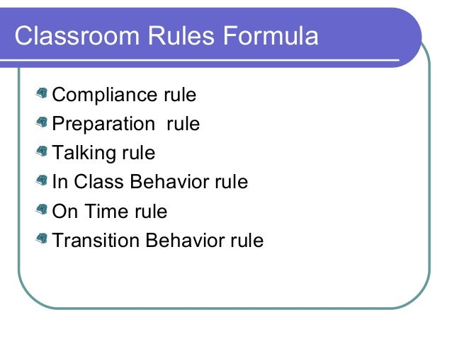 Transitions effective classroom management
