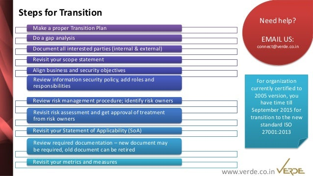 ISO 27001:2013 - A transition guide