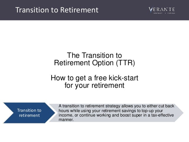 Transtion to retirement investment options