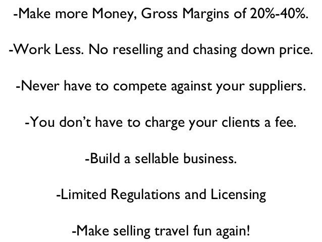 -Make more Money, Gross Margins of 20%-40%. -Work Less. No reselling and chasing down price. -Never have to compete agains...