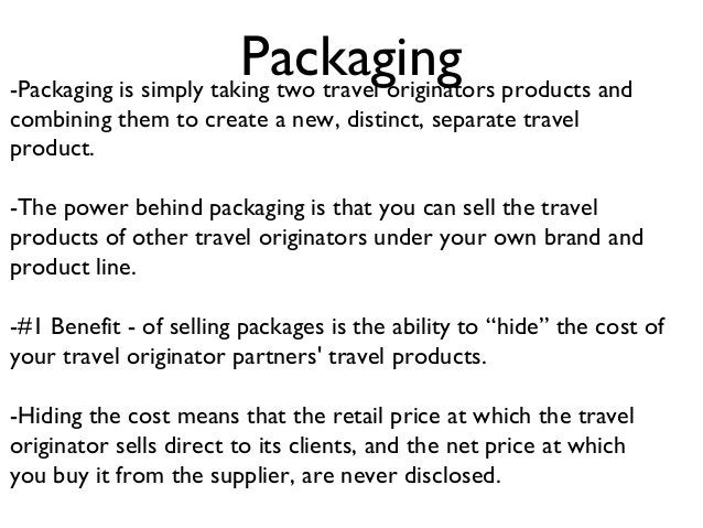"""Distribution Distribution of your business' """"owned travel product"""" can literally drive your sales to another level. Partne..."""