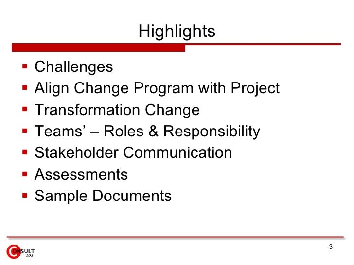 Transition & Transformation Change Slide 3