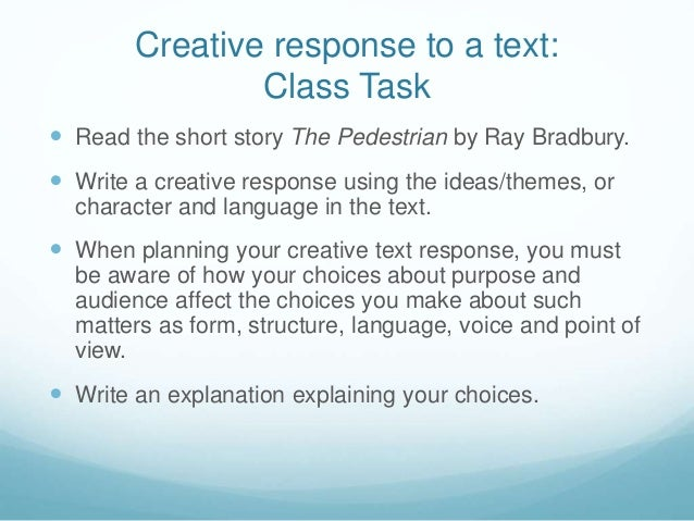 Creative response essay
