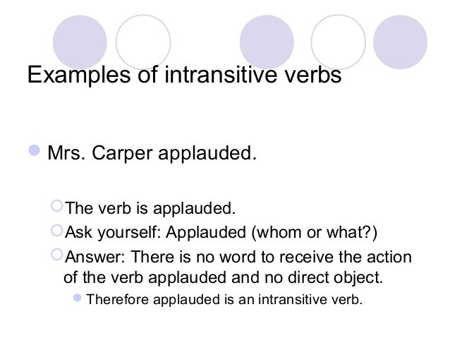 intransitive verbs Quick list: transitive verbs here is a short list of transitive verbs  learn english essay writing and grammar rules by studying transitive and intransitive verbs.