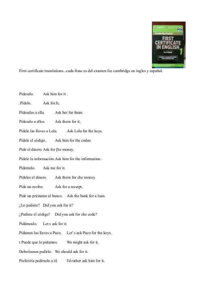 2000 Frases Murcia Examen Ingles First Certificate Cambridge