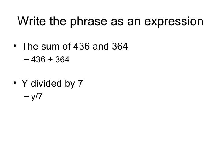 write a word phrase for algebraic expression