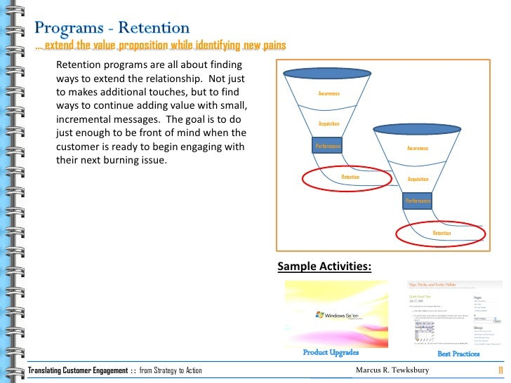 … extend the value proposition while identifying new pains          Retention programs are all about finding          ways...