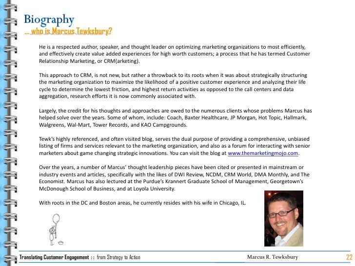 … who is Marcus Tewksbury?          He is a respected author, speaker, and thought leader on optimizing marketing organiza...