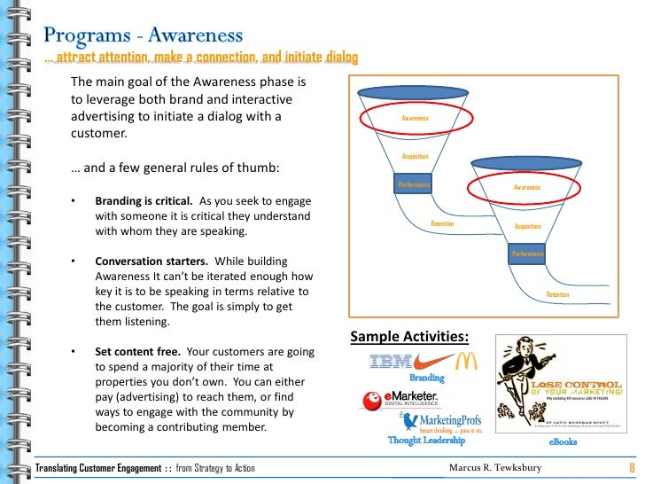 … attract attention, make a connection, and initiate dialog          The main goal of the Awareness phase is          to l...