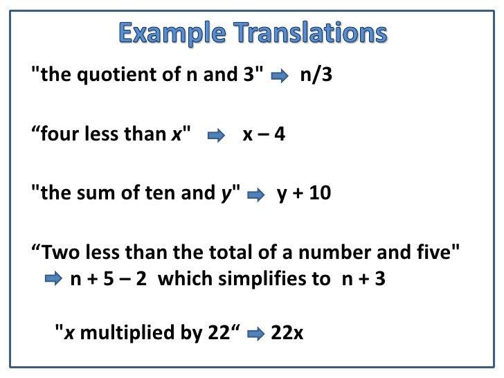 Translating Words into Math • Love the SAT Test Prep