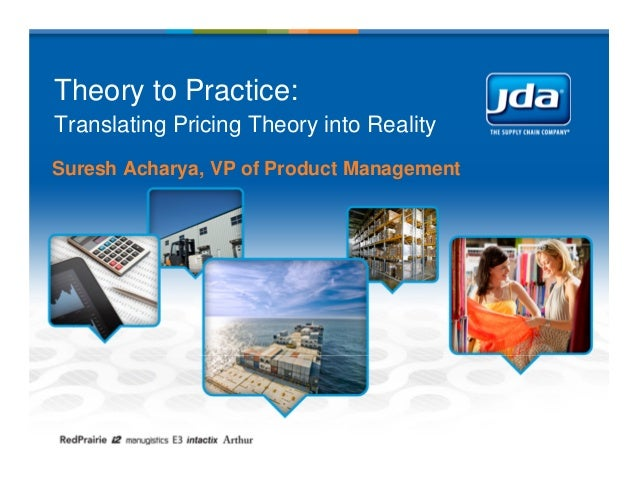 Theory to Practice:Translating Pricing Theory into RealitySuresh Acharya, VP of Product Management