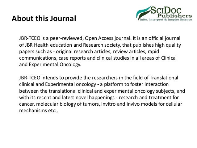 Translational Clinical and Experimental Oncology Journal