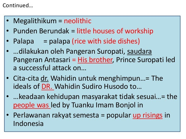 how to translate article from indonesian to english