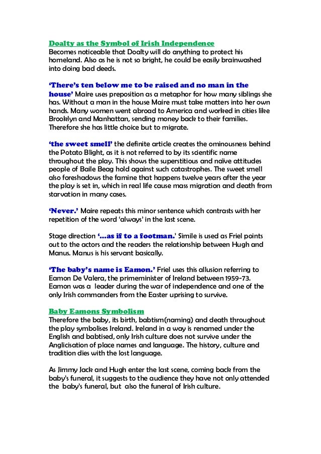 brian friel translations characters