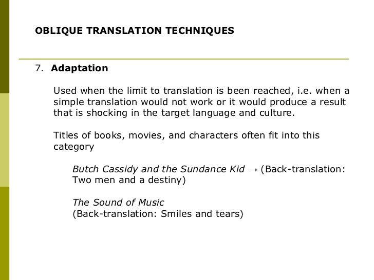Translation techniques presentation... TRANSLATION TECHNIQUES; 29.