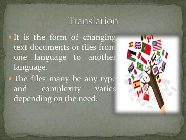Translation, transcription and interpretation Slide 3