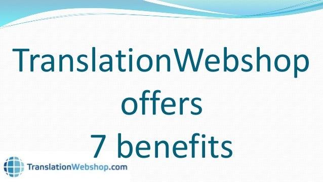 TranslationWebshop: the one stop shop for translations Slide 3